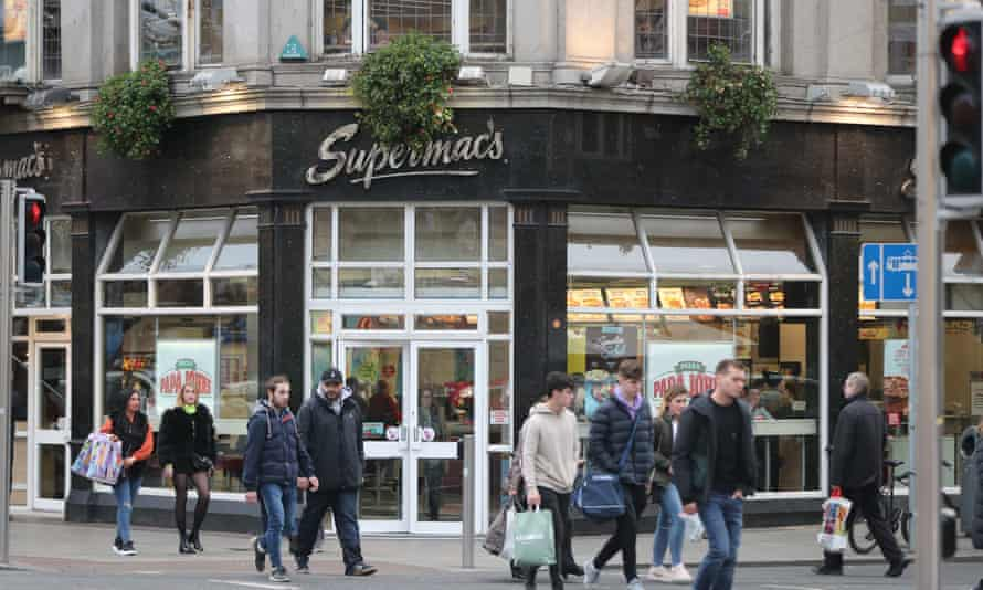 Supermac's restaurant on O'Connell Street in Dublin.