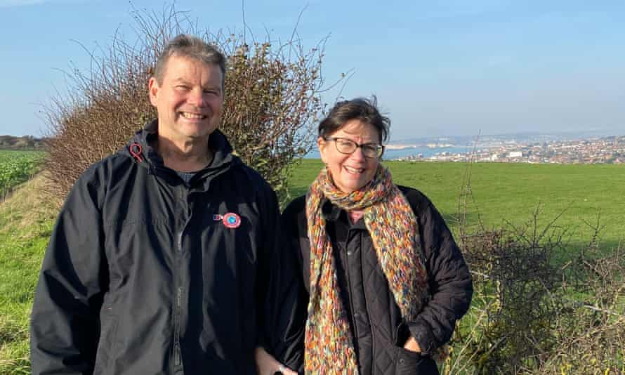 Roy and Becky Francomb from Sussex