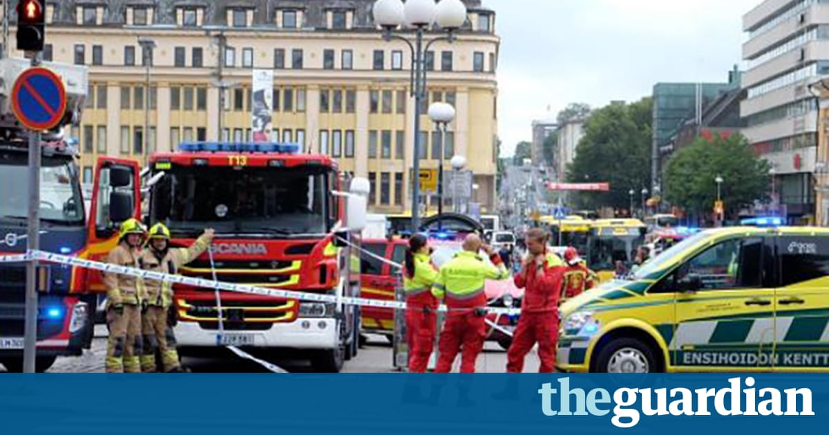 Turku stabbing: two dead in Finnish city after market square attack