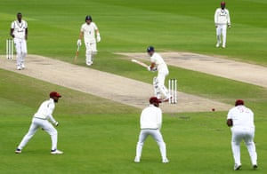 James Anderson is caught by Rahkeem Cornwall.