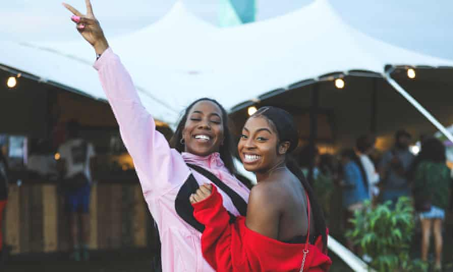 Revellers at Strawberries and Creem festival, which is aiming to provide better training and safe places to stop sexual harassment.