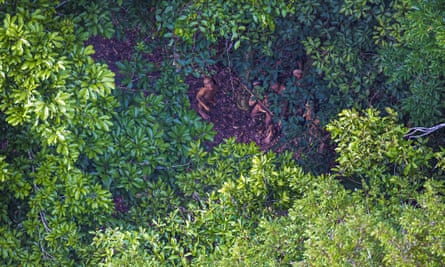 Members of an as-yet uncontacted Amazon tribe.