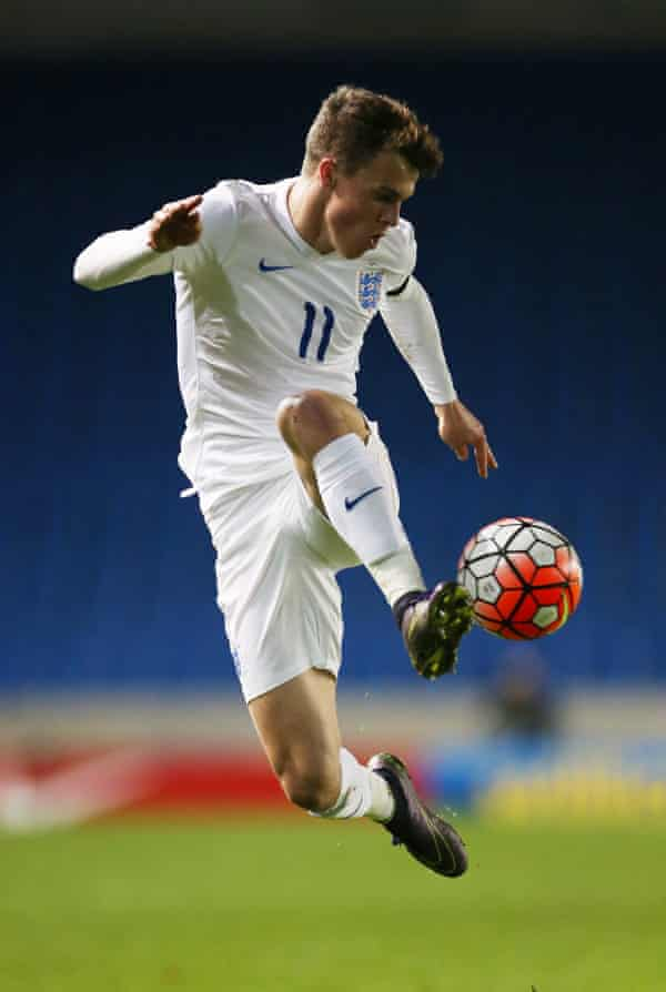 Solly March in action for England Under-21s in 2015.