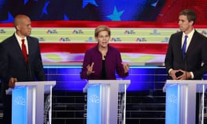 'The debate moderators did their best to goad the other candidates to attack Warren.'