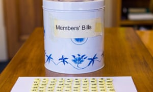 The parliamentary biscuit tin is used in New Zealand as a way of randomly choosing which members' bills to be presented to parliament.