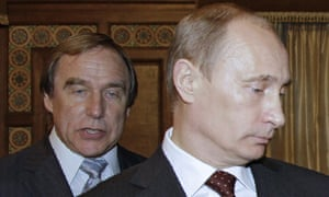 Vladimir Putin with his friend Sergei Roldugin, the cellist connected to huge sums of money in the leaked files.