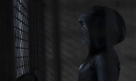 Veiled threat … King as the superhero in Watchmen.
