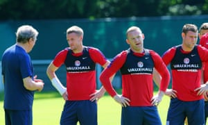 Roy Hodgson drafted Jamie Vardy, left, into his starting XI for England's draw with Slovakia, while Wayne Rooney was rested and James Milner has only appeared from the bench.