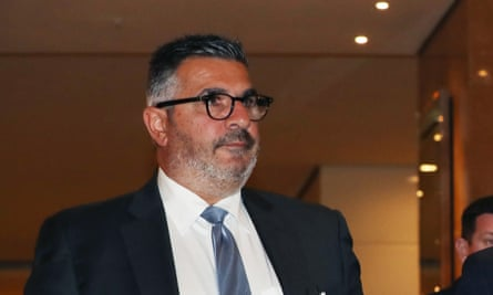 Andrew Demetriou at the Crown Resorts 2019 AGM