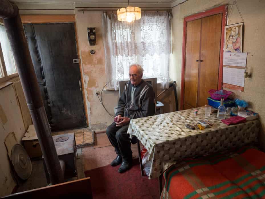 Gevorg, 82, in Vanadzor.