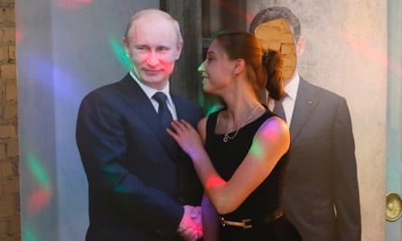 A lifesize cutout of Putin is available for selfies
