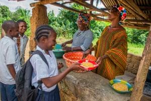 Massa receiving Mary's Meals
