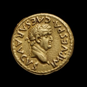 Temple gold coin from the Ashmolean Museum