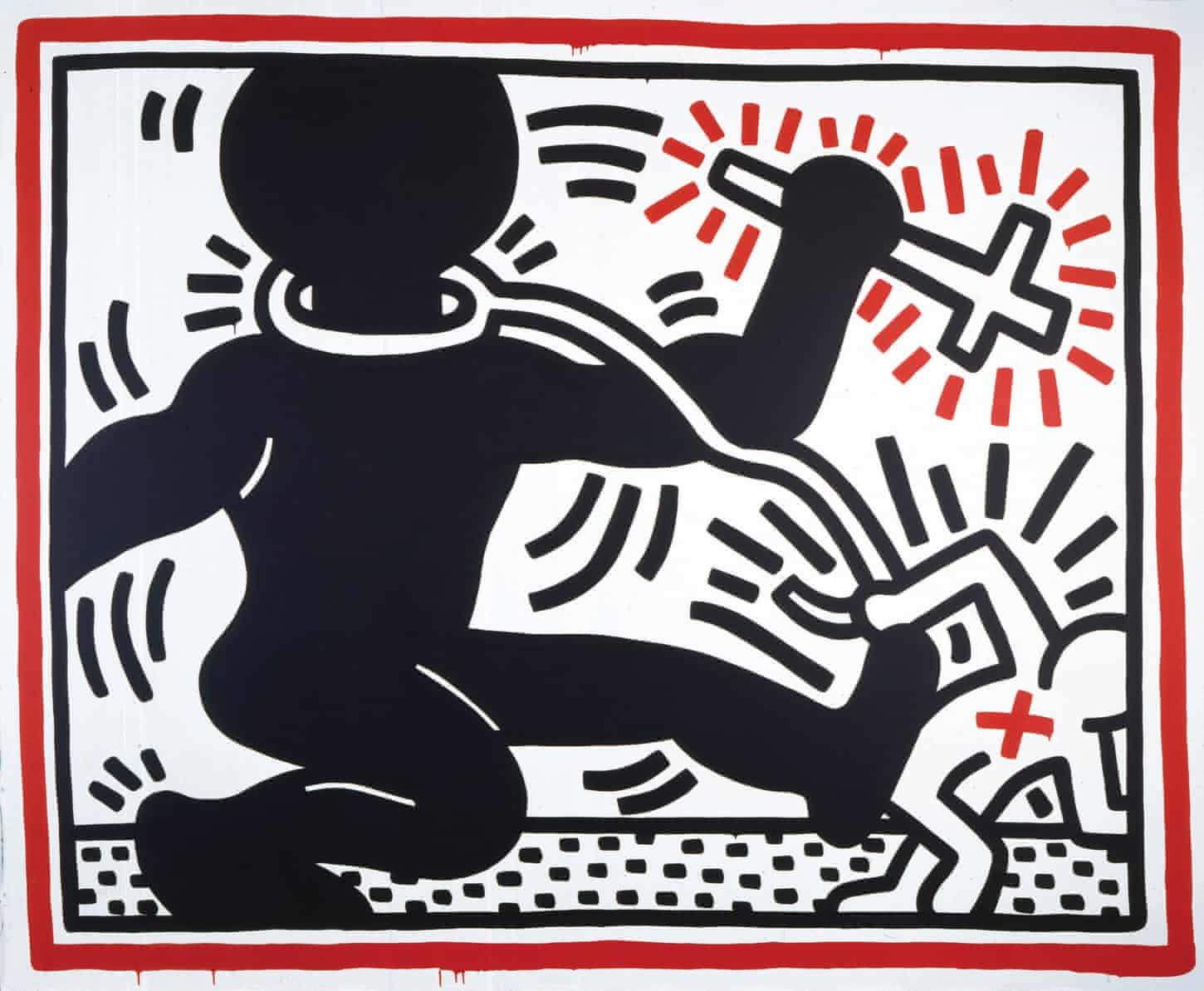 Keith Haring review – jubilance and beauty from the message man