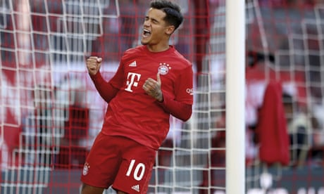 European roundup: Philippe Coutinho opens account as Bayern crush Cologne