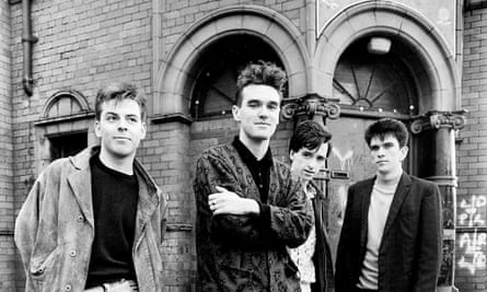 The Smiths outside Salford Lads Club.