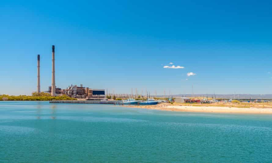 Port Adelaide power station running on natural gas, South Australia