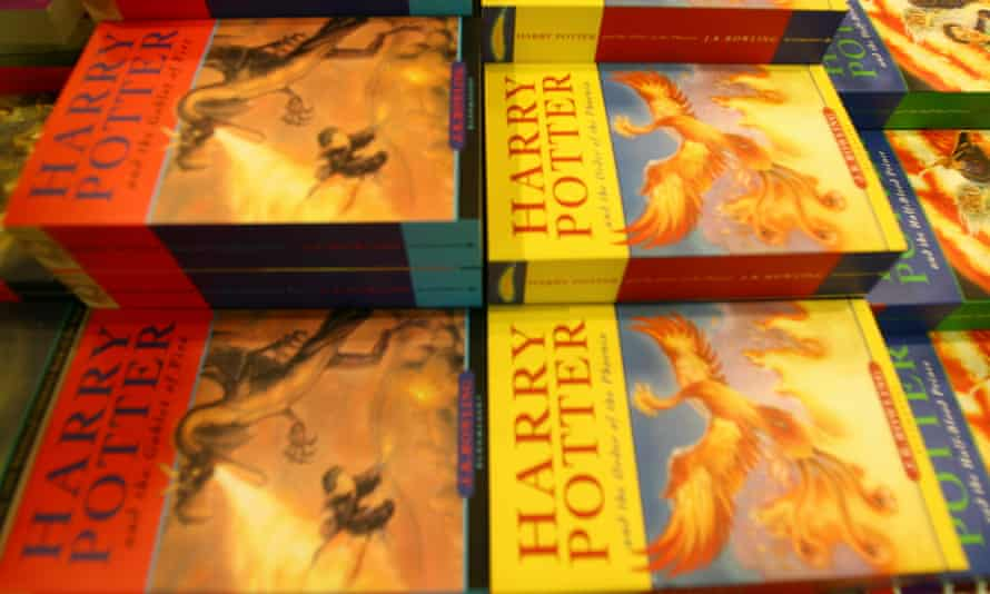 Harry Potter books in a shop