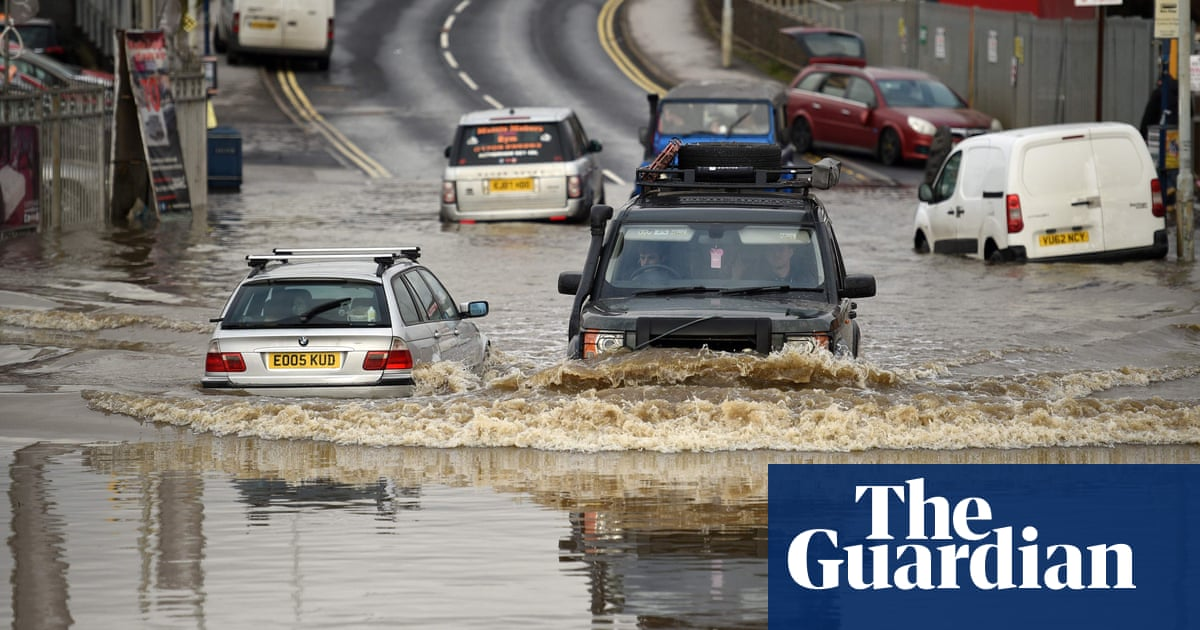 Flood water submerges roads in parts of northern England - video report