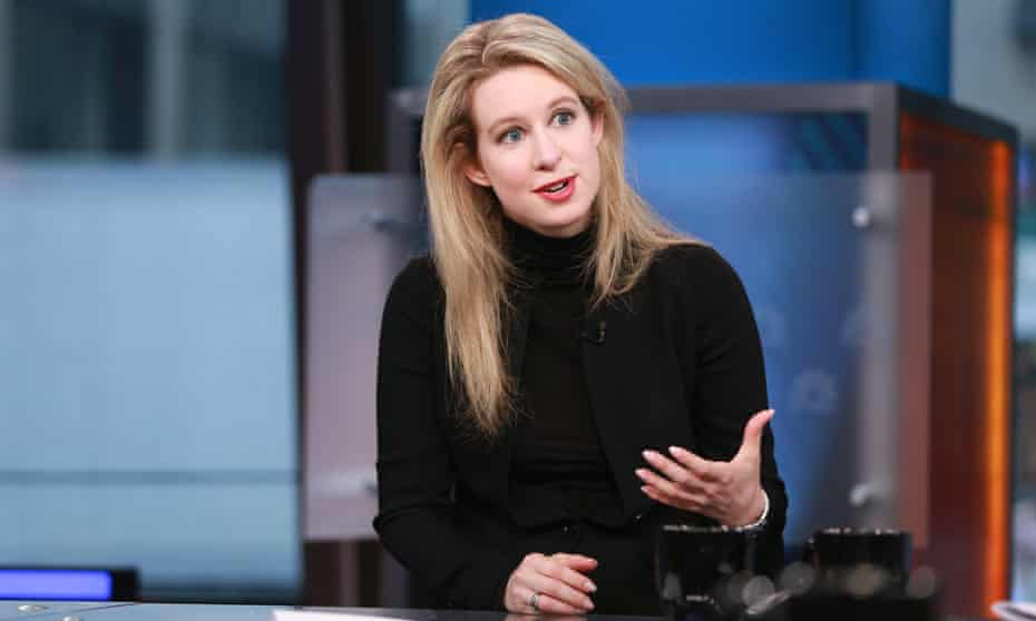 Elizabeth Holmes in 2015. Her company, Theranos, rose during the 'unicorn boom' of the time, John Carreyrou said.