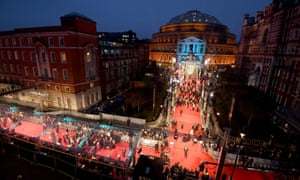 Guests arrive at the Royal Albert Hall for the Bafta awards