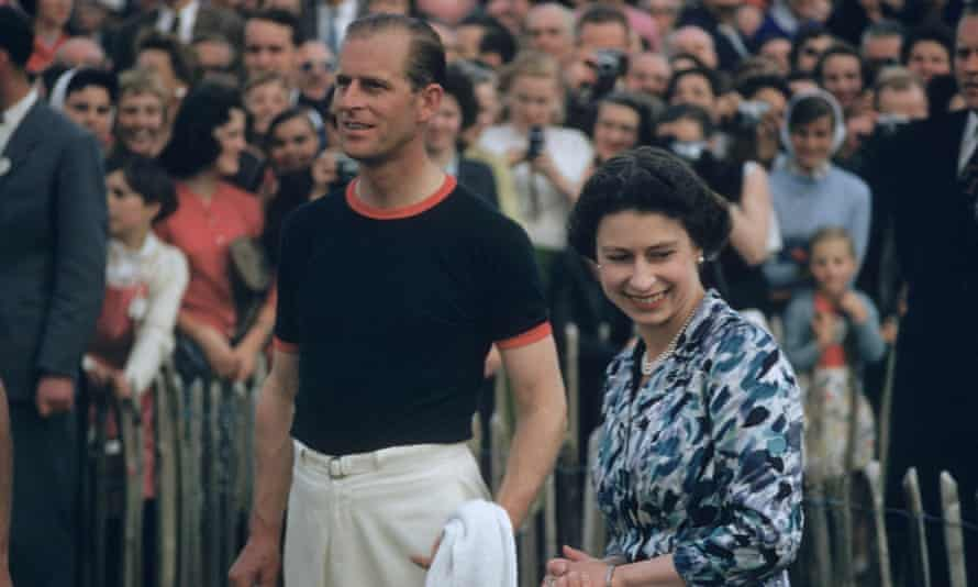 'Supporter, confidant and sounding board': Prince Philip with the Queen in 1955 after his team won a polo tournament