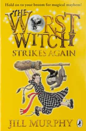 The Worst Witch Strikes Again by Jill Murphy, one in a long series about struggling wizarding school student Mildred Hubble.
