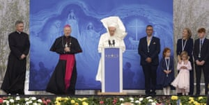 Pope Francis speaks at the Knock Shrine