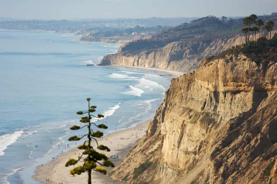 Torrey Pines beach and coast of San Diego, California.