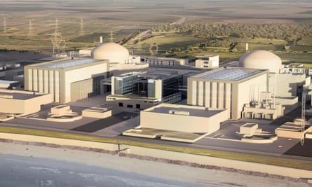 Artist's impression of the proposed Hinkley Point C nuclear power station