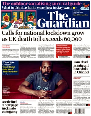 Guardian front page, Wednesday 28 October 2020
