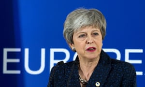 Theresa May at the EU's spring summit in Brussels.