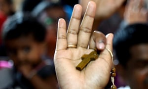 Indian Christian devotees attend the annual St Mary's Basilica feast