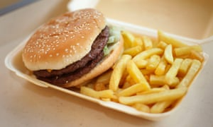 A takeaway burger and chips is quick, easy and convenient.