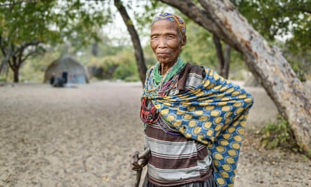 A woman from the San tribe