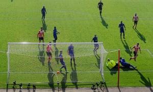 Jay Rodriguez (bottom right) tucks Southampton's second goal past Kasper Schmeichel