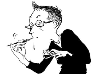 A self-portrait by Alison Bechdel.