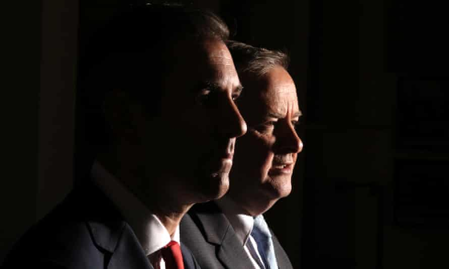 Jim Chalmers and Anthony Albanese at a press conference