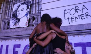 Mourners remembering Franco last week in Rio.