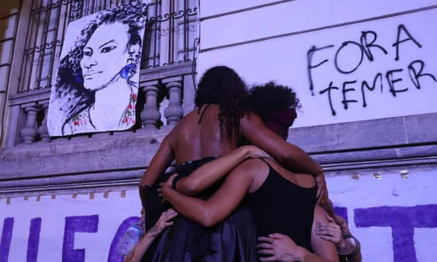 Mourners remembering Franco last week in Rio.