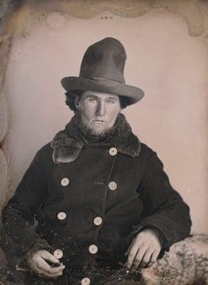 Unknown photographer. Portrait of an gold miner c.1852. Daguerreotype