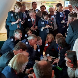 Dimiter Tzantchev's photo of the meeting in a corridor in the European council.