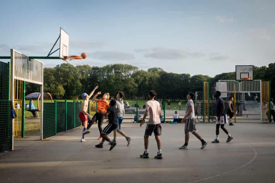 Basketball courts at Woodhouse Moor.