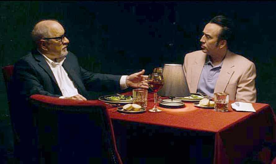 Paul Schrader and Nicolas Cage on set for Dog Eat Dog