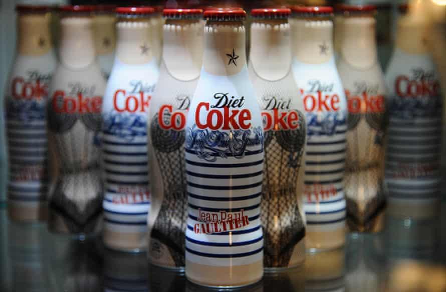 Diet Coke Jean Paul Gaultier bottles in 2012