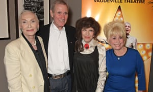 Sian Phillips, Jim Dale, Fenella Fielding and Barbara Windsor attend an after party following the press night performance of Just Jim Dale at The Waldorf Hilton Hotel in London on 28 May 2015