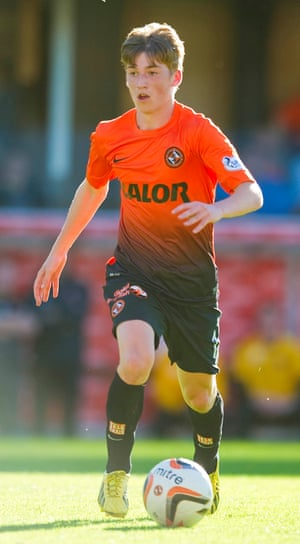 Ryan Gauld in action for Dundee United in 2013.