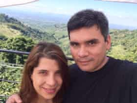 Jorge Patino with his wife Ana María