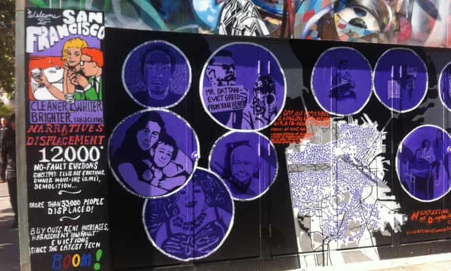 An anti-gentrification mural in San Francisco.