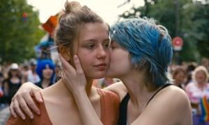 A bit of blue: Adèle Exarchopoulos and Léa Seydoux.